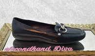 Coach black leather loafers Dorie