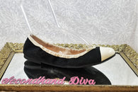 Sam & Libby black canvas flats