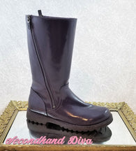 Ugg purple patent leather Amilia boots