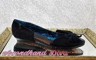 Irregular Choice black suede flats