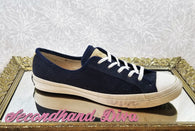 Converse All Star blue suede sneakers