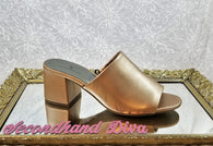 Worthington rose gold heeled slide