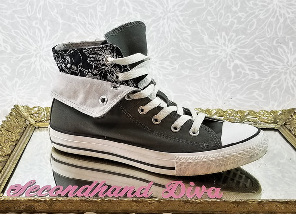 Converse Chuck Taylor grey layered high tops