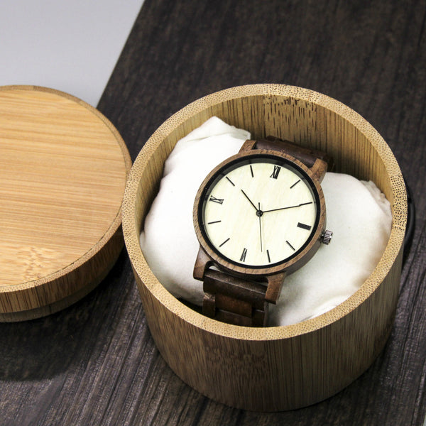 Wooden Watch with Bamboo Case