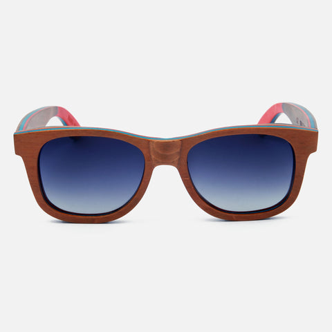 Sail Along Sunglasses - Brown Skateboard Laminated Wood