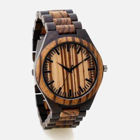 Full Wooden Watch - The Downtown 'Light'