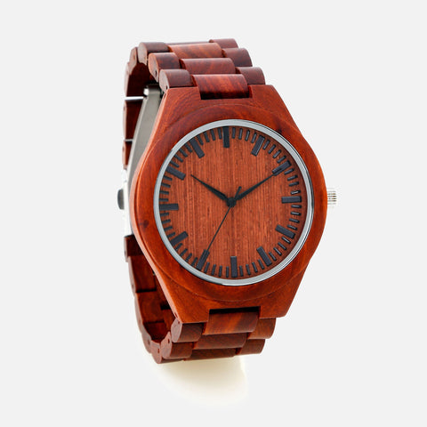 Wooden Watch - CAPO Red Sand
