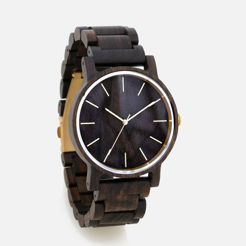 Full Wooden Watch - Montecito Black Sandalwood