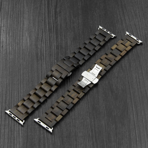 Wooden Apple Watch Band - Black Sand - 38mm and 42mm