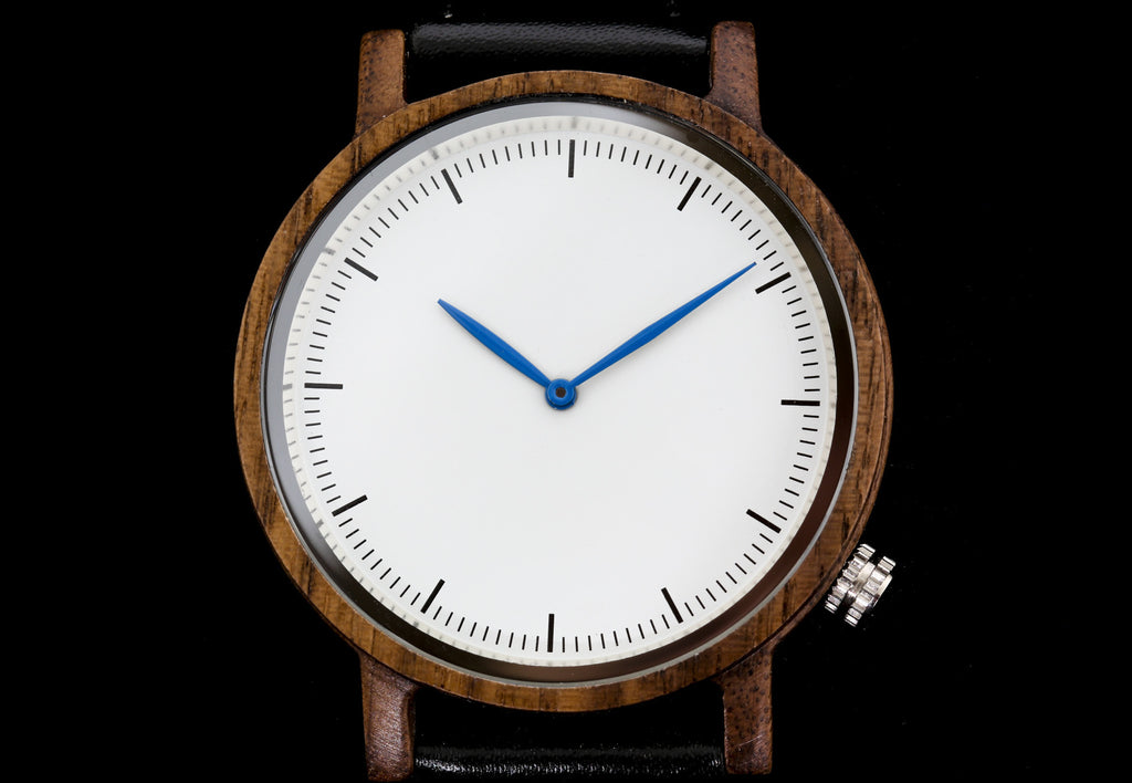 Wooden Watch with Leather Band - Cabrillo Black