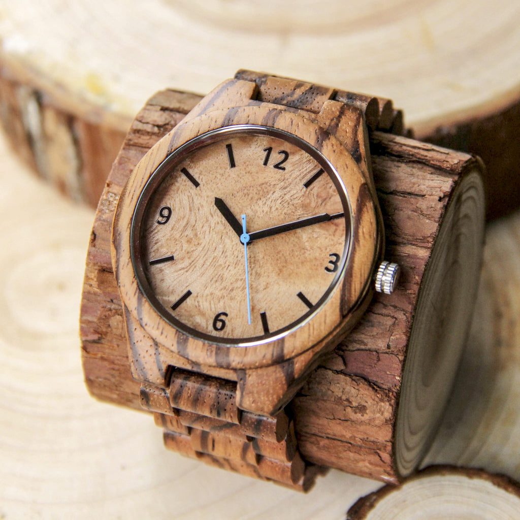 Wooden Watch - CAPO Zebra Burl