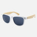 Lone Pine Sunglasses - Black Lens with White Frame