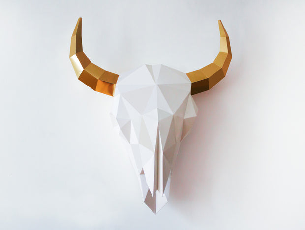 BISON SKULL SCULPTURE