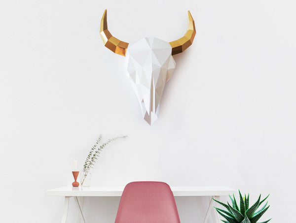BISON SKULL <br> DIY Paper Craft Template