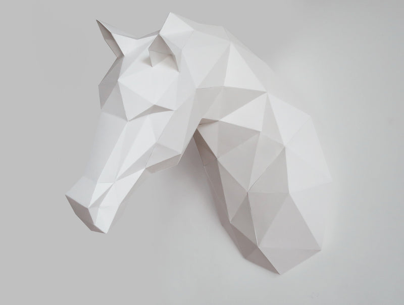 HORSE  <br> DIY Paper Craft Template