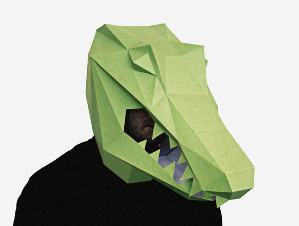 ALLIGATOR MASK  <br> DIY Paper Mask Template