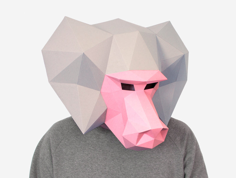 BABOON MASK <br> DIY Paper Mask Template