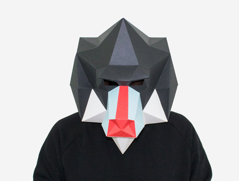 Mandrill <br> DIY Paper Mask Template