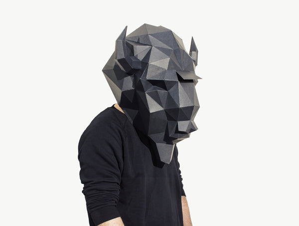 BISON MASK <br> DIY Paper Mask Template