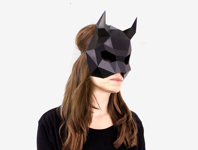 with this PDF download Make this easy mask for Halloween DEVIL Mask