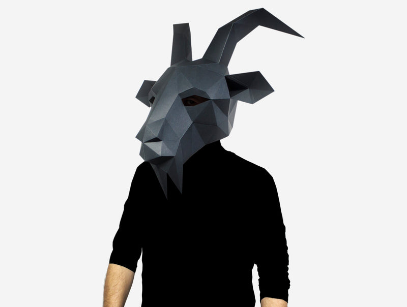 BLACK PHILLIP  MASK <br> DIY Paper Mask Template