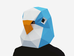 BUDGIE BIRD <br> Printable Mask Pattern