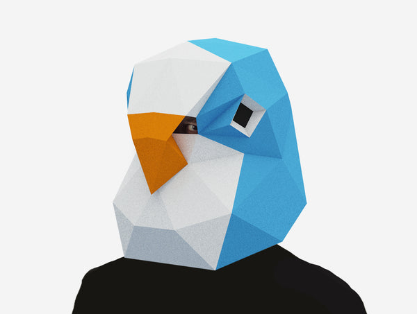 BUDGIE BIRD <br> DIY Paper Mask Template