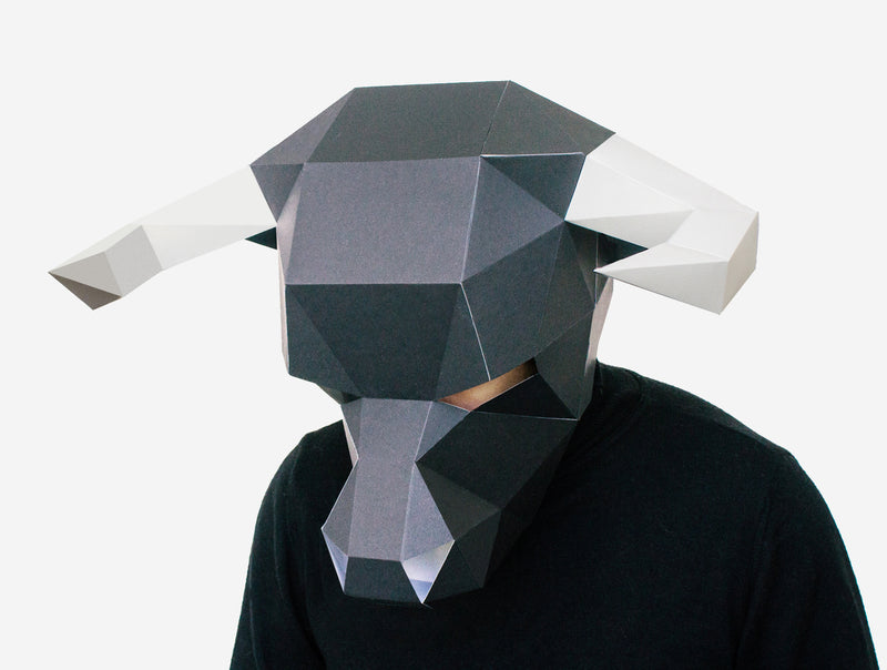 BULL MASK <br> DIY Paper Mask Template