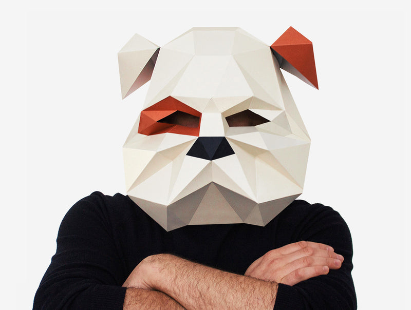 BULLDOG MASK <br> DIY Paper Mask Template