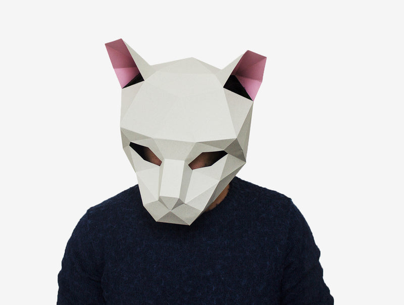 CAT <br> DIY Paper Mask Template