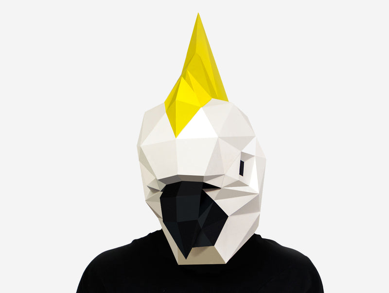 COCKATOO MASK <br> DIY Paper Mask Template