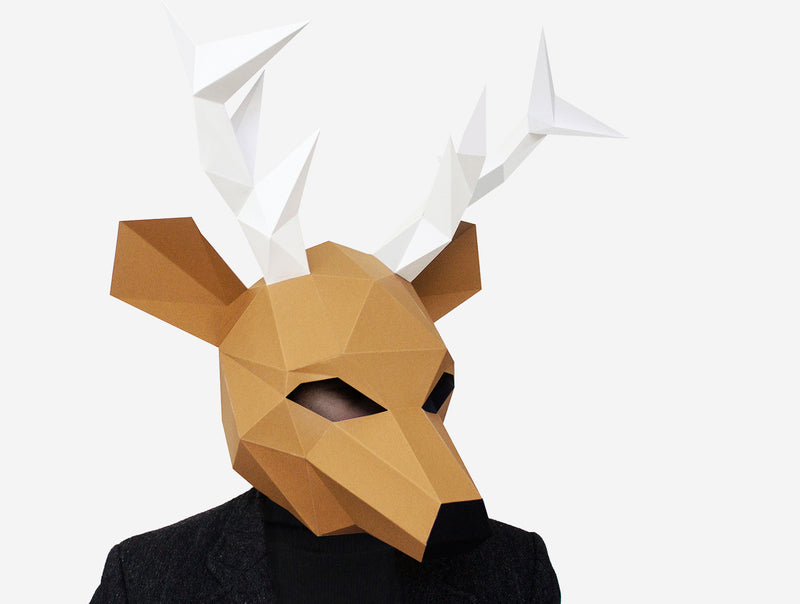DEER MASK <br> DIY Paper Mask Template