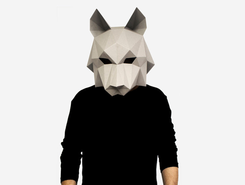 DIRE WOLF MASK <br> DIY Paper Mask Template