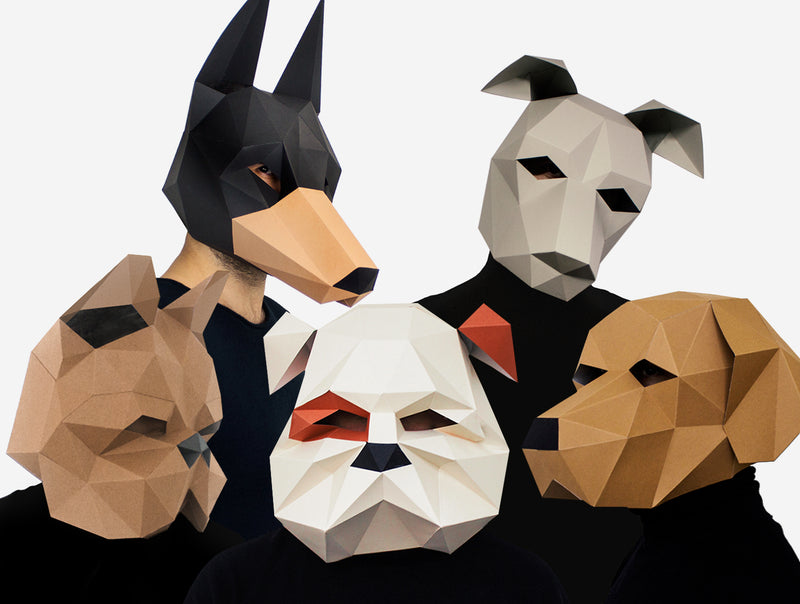 DOG PACK TEAM <br> DIY Paper Mask Template