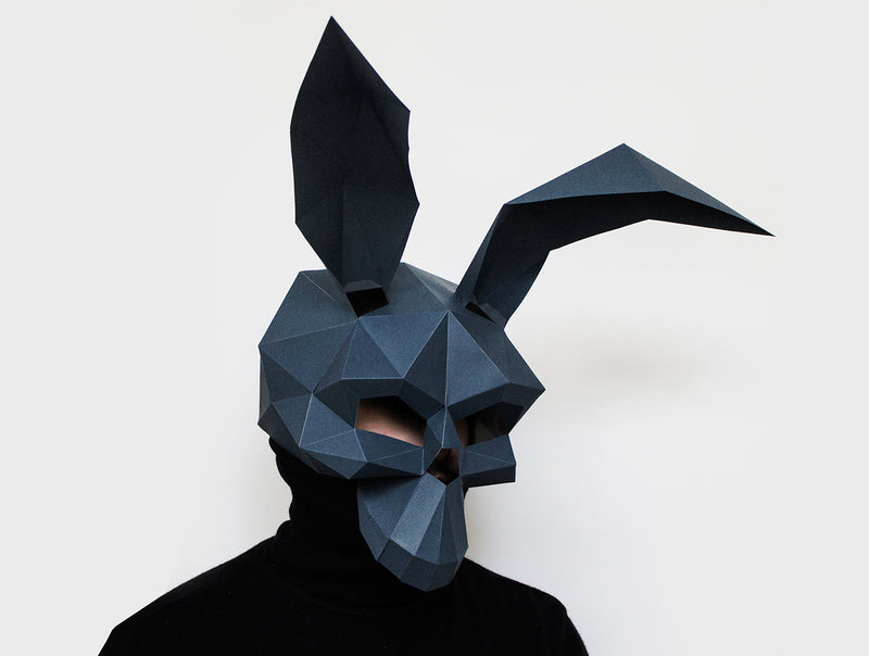RABBIT SKULL <br> DIY Paper Mask Template