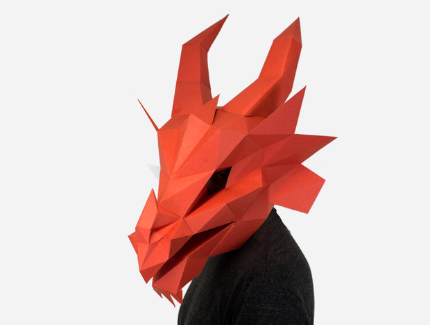 FIRE DRAGON MASK
