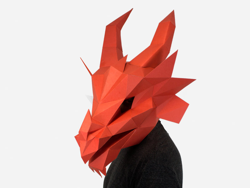 FIRE DRAGON <br> DIY Paper Mask Template