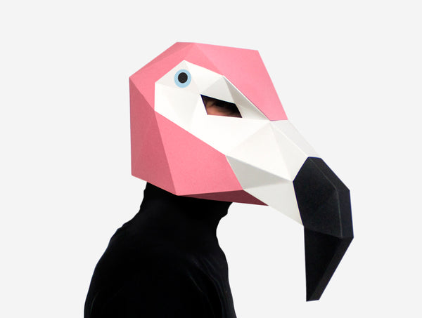 FLAMINGO <br> DIY Paper Mask Template