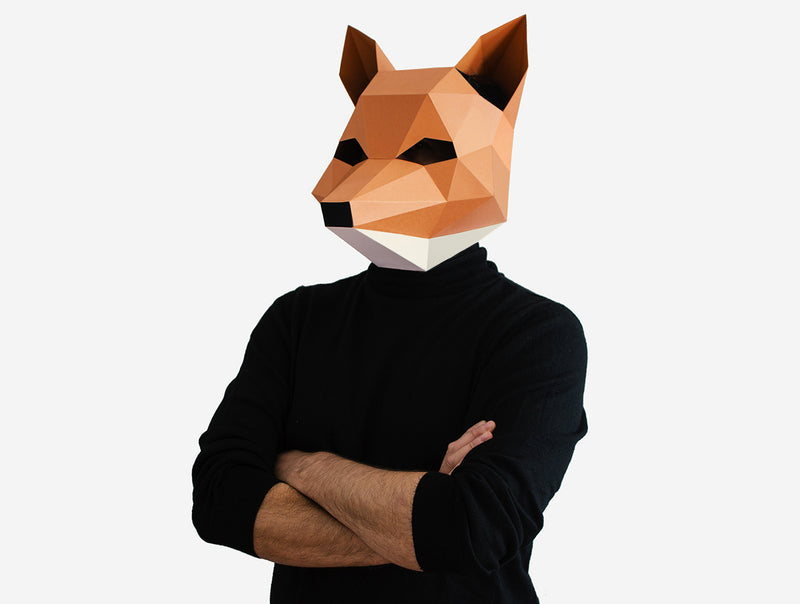 FOX MASK <br> DIY Paper Mask Template