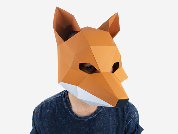 Fox Mask Paper Craft Kit