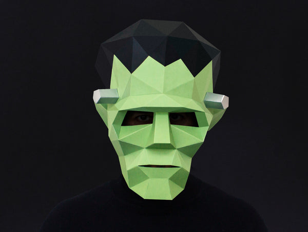FRANKENSTEIN <br> DIY Paper Mask Template