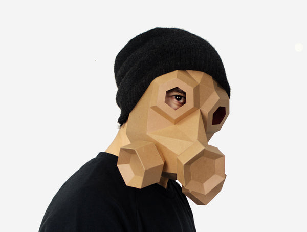 GAS MASK STEAMPUNK MASK <br> DIY Paper Mask Template