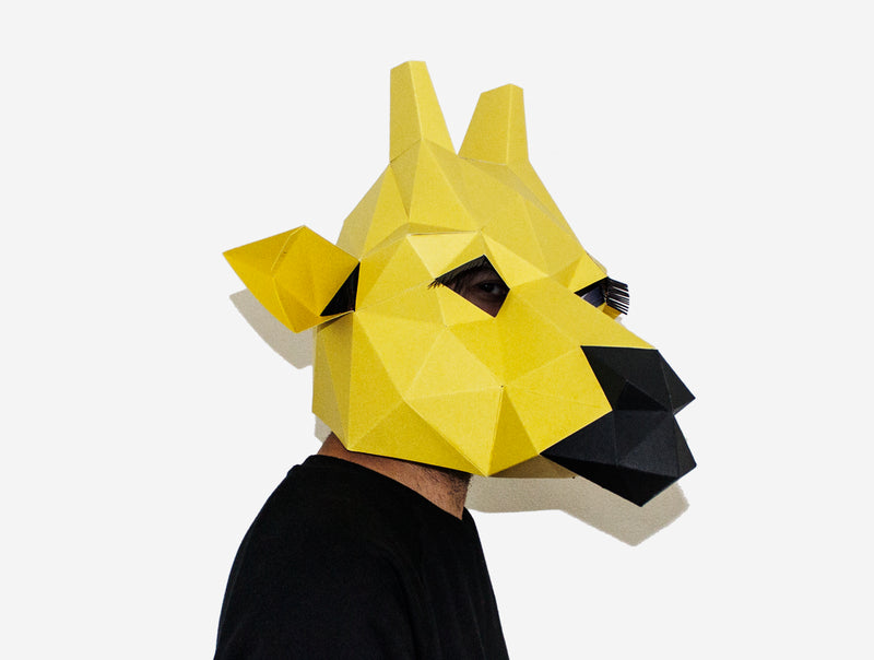GIRAFFE <br> DIY Paper Mask Template