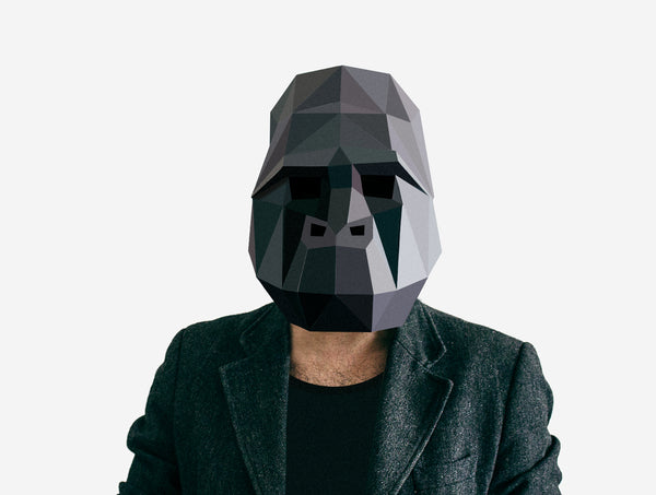 GORILLA <br> DIY Paper Mask Template