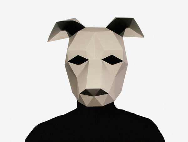 GREYHOUND <br> DIY Paper Mask Template