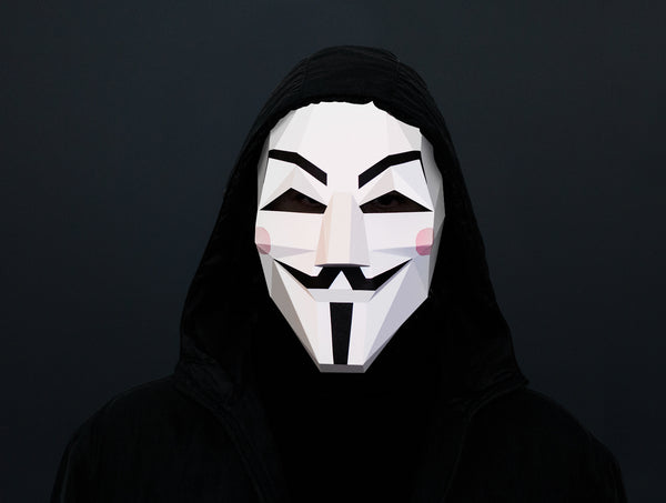 GUY FAWKES MASK VENDETTA MASK <br> DIY Paper Mask Template