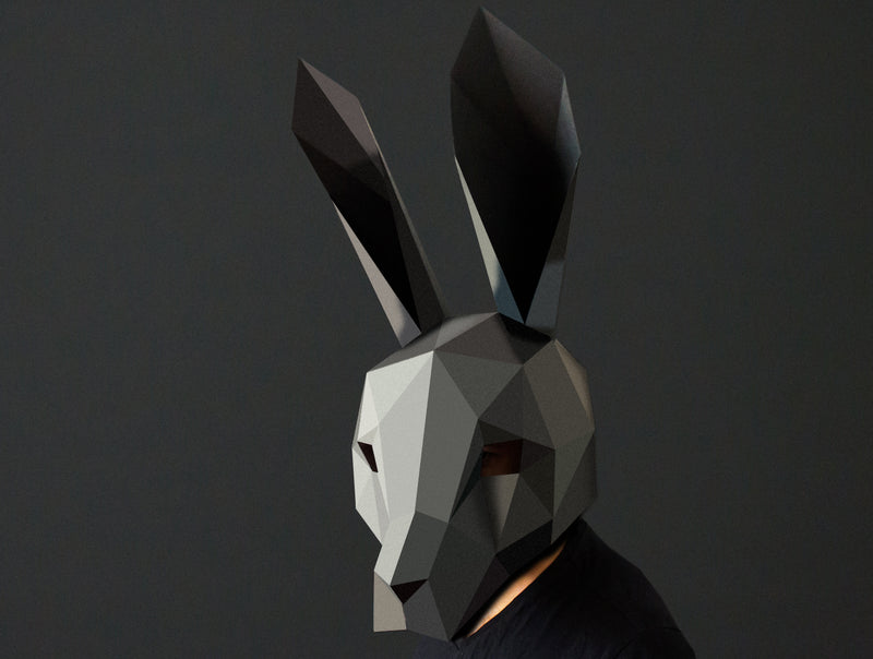 HARE <br> DIY Paper Mask Template