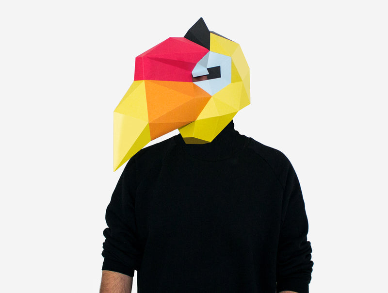 HORNBILL <br> DIY Paper Mask Template