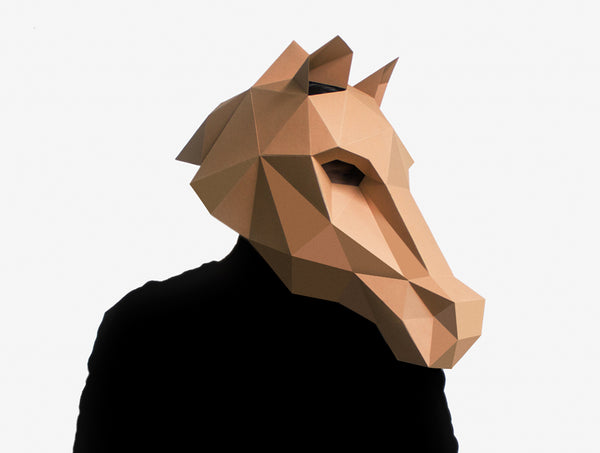 HORSE <br> DIY Paper Mask Template