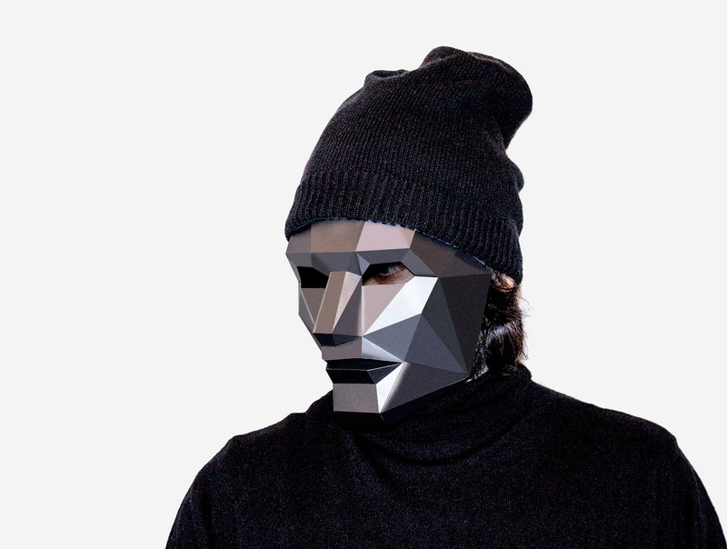 HUMAN FACE <br> DIY Paper Mask Template